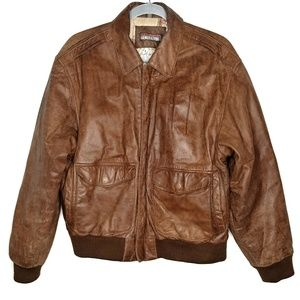 Vintage Saturdays Generation leather bomber jacket